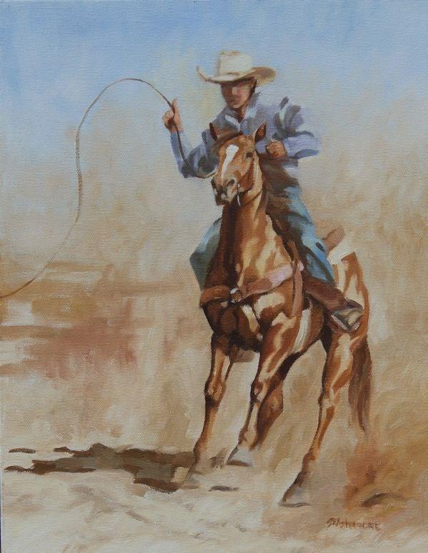 """Out of Reach"" original fine art by Susan Ashmore"
