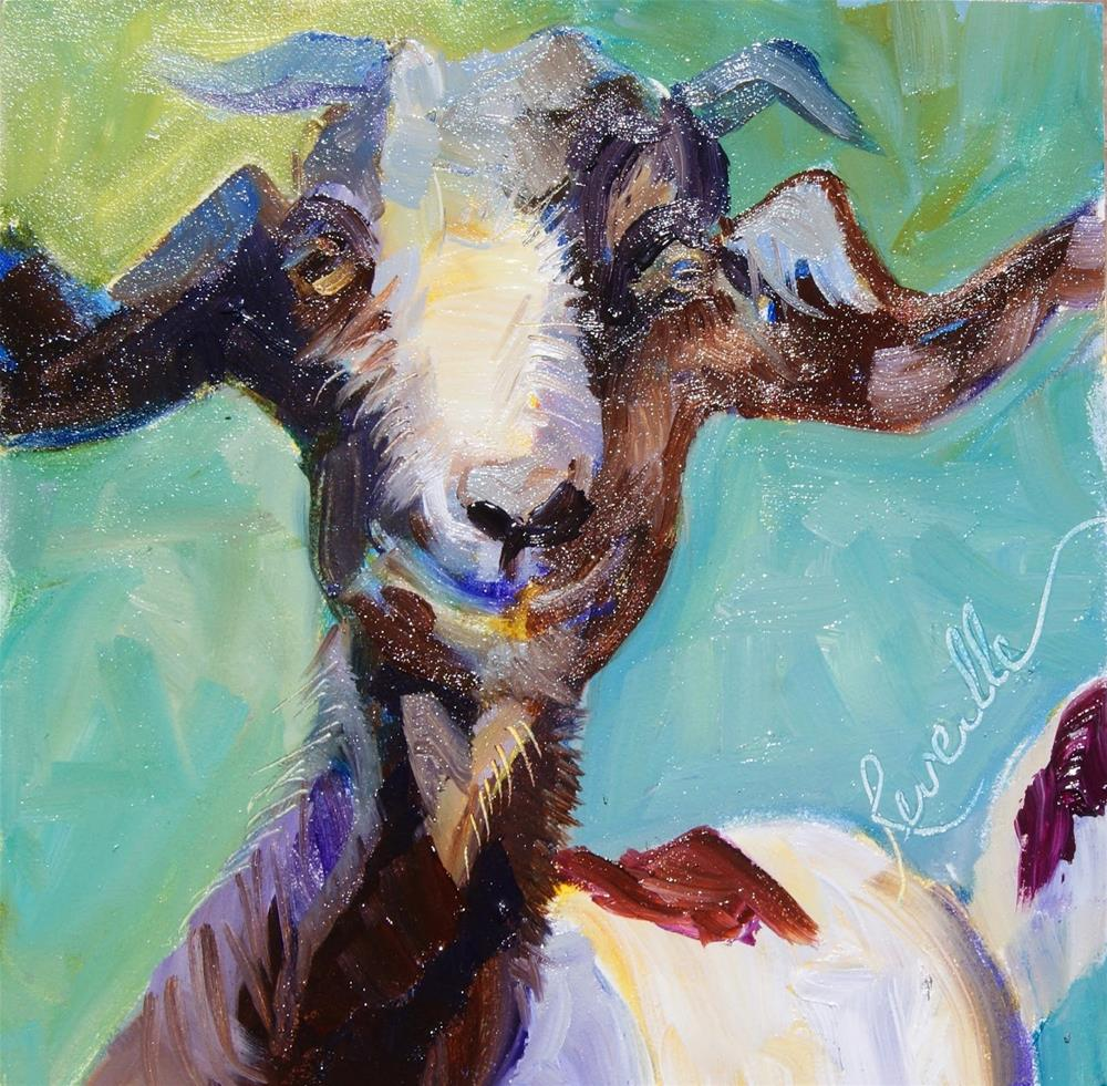 """Heartly the Goat"" original fine art by Reveille Kennedy"
