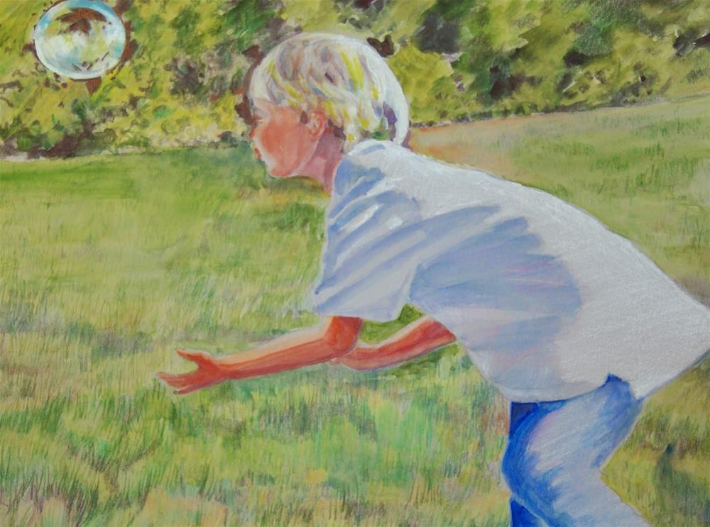 """Chasing Bubbles"" original fine art by Reveille Kennedy"