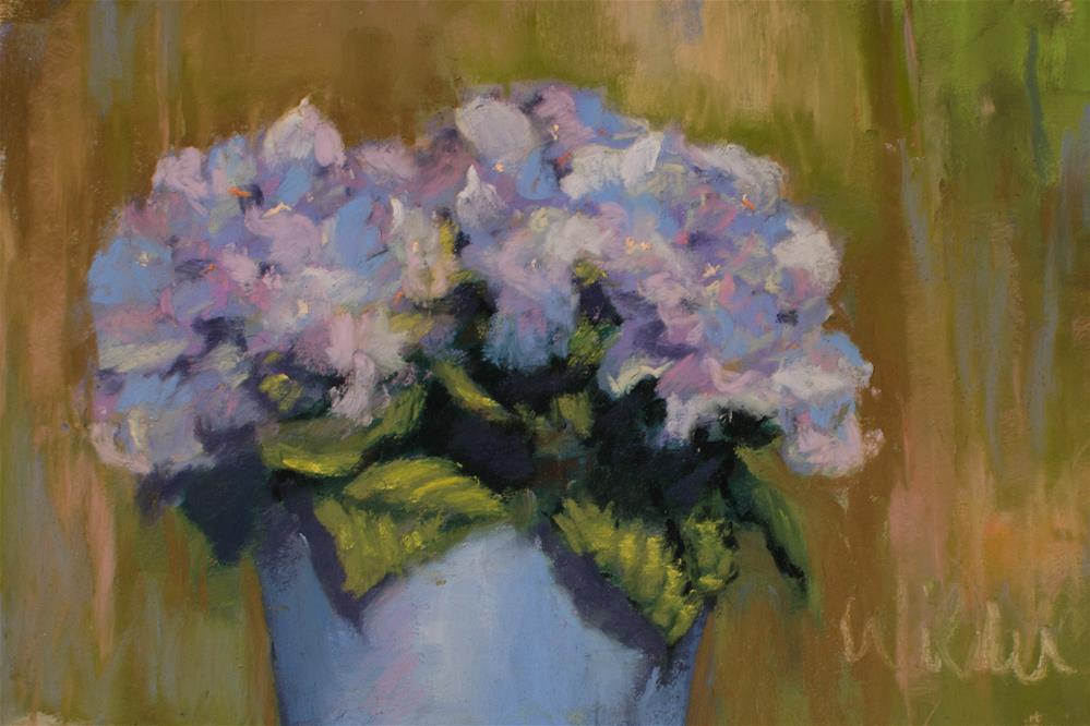 """Blues"" original fine art by Judy Wilder Dalton"