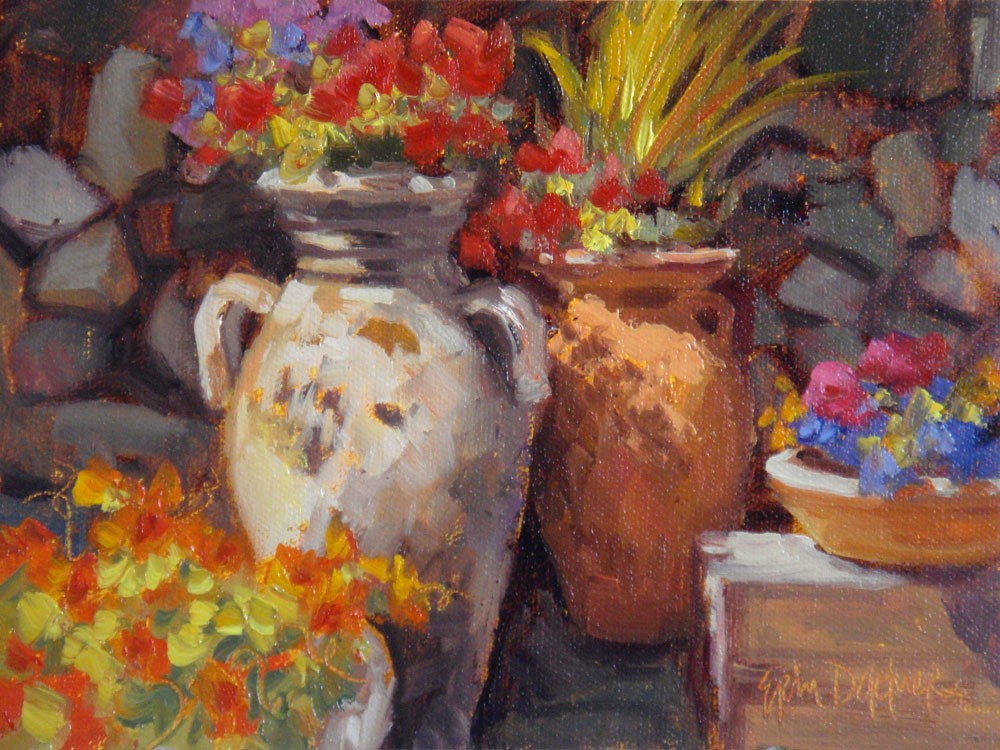 """""""Bold and Bright"""" original fine art by Erin Dertner"""