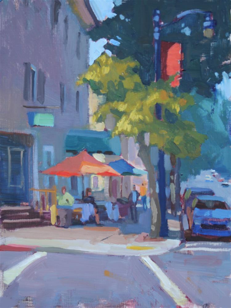 """Orange and Blue"" original fine art by Kristian Matthews"