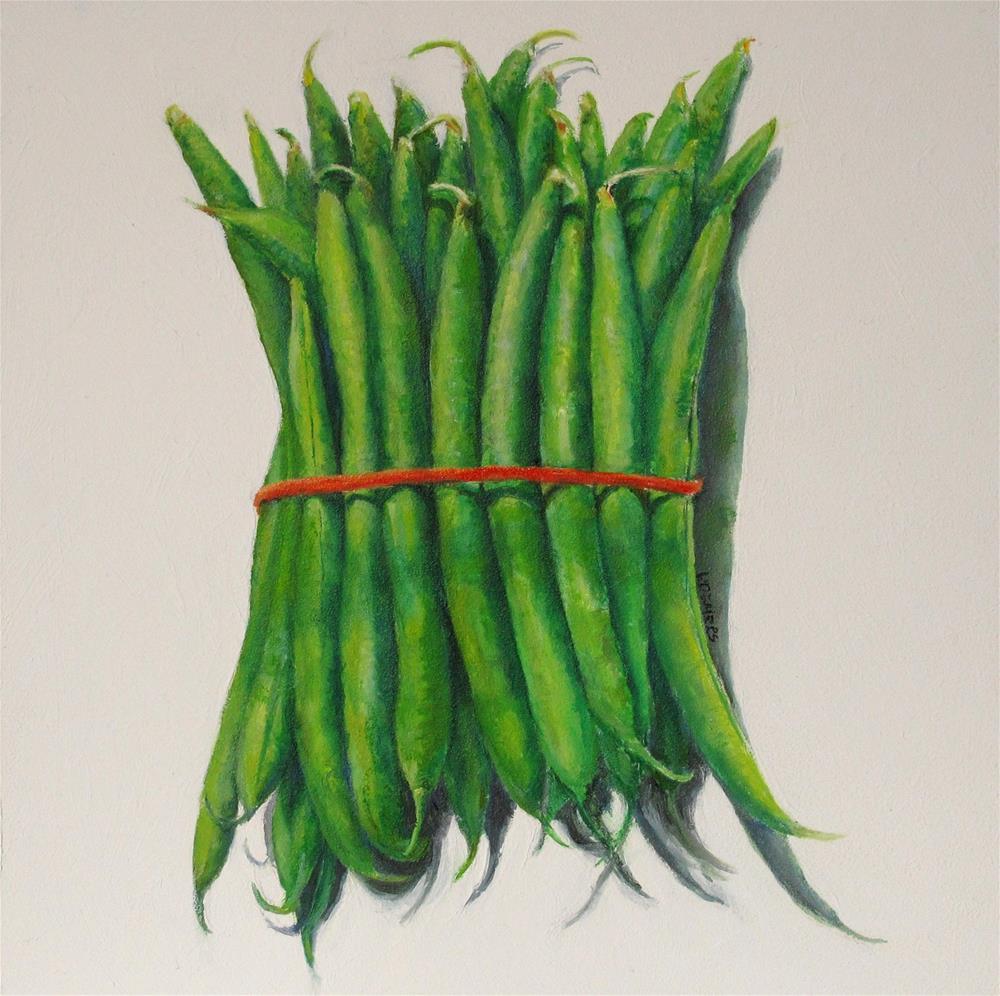 """""""Green Beans"""" original fine art by Linda Demers"""