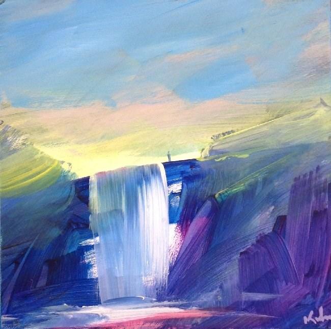"""""""A Little Water"""" original fine art by David Kuhn"""