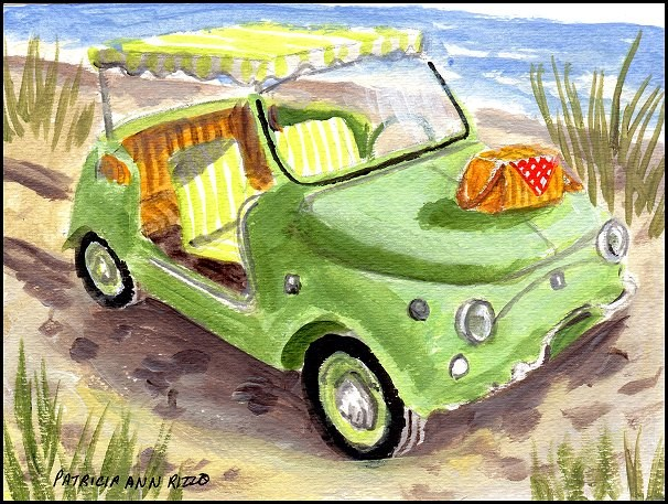 """Fiat Jolly"" original fine art by Patricia Ann Rizzo"