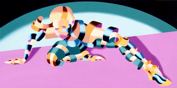 """""""Mark Webster - Becca 219.02 - Geometric Abstract Figurative Oil Painting"""" original fine art by Mark Webster"""