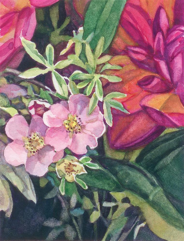 """""""Pointillia (framed)"""" original fine art by Nicoletta Baumeister"""