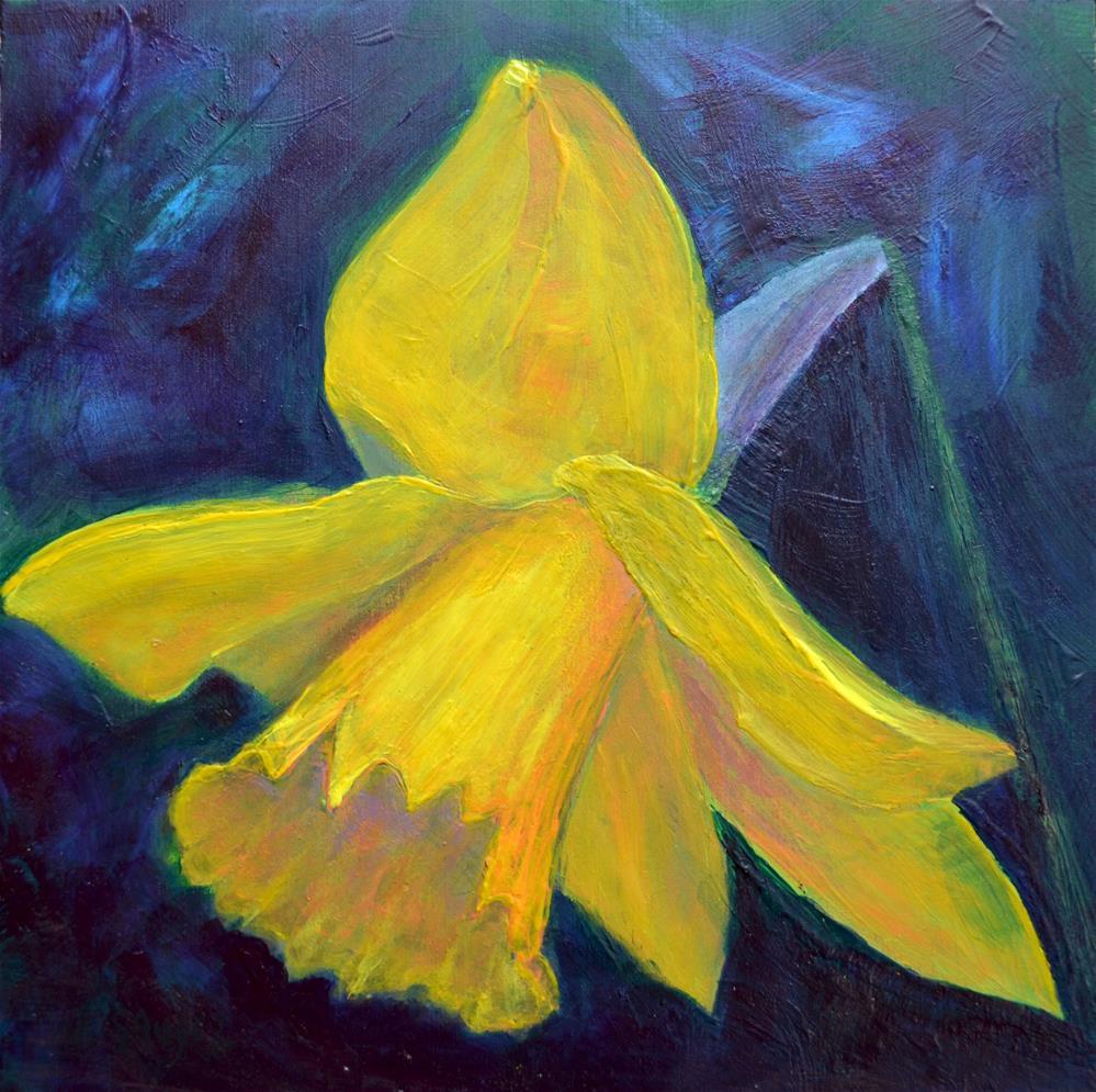 """Daffodil"" original fine art by Véronique Saudez"