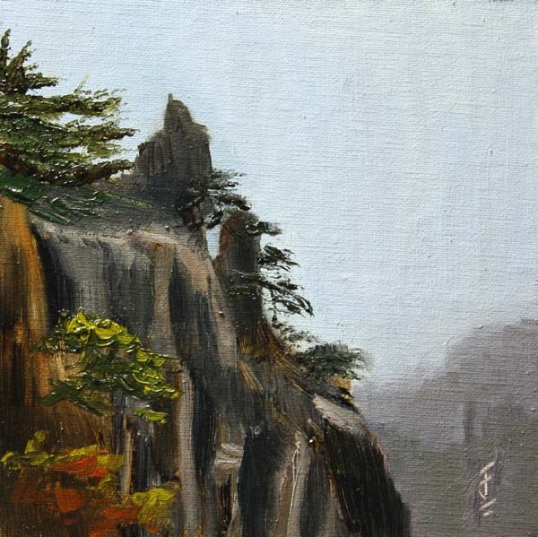 """""""Yellow Mountain Color"""" original fine art by Jane Frederick"""