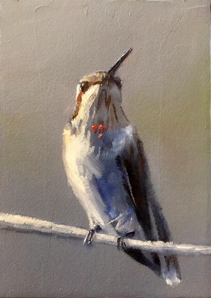 """""""Juvenile Hummer"""" original fine art by Gary Bruton"""