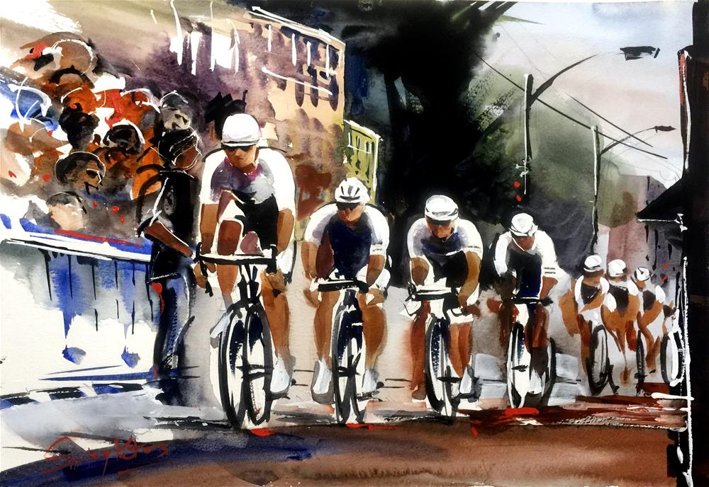 """""""Forever Winning, This Team"""" original fine art by Shirley Peters"""