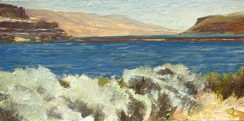 """Horse Thief Lake  plein air landscape painting by Robin Weiss"" original fine art by Robin Weiss"