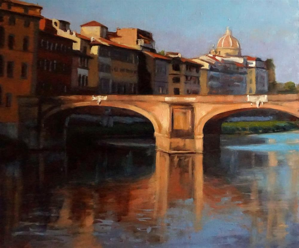"""View of the Ponte Santa Trinita"" original fine art by Jonelle Summerfield"