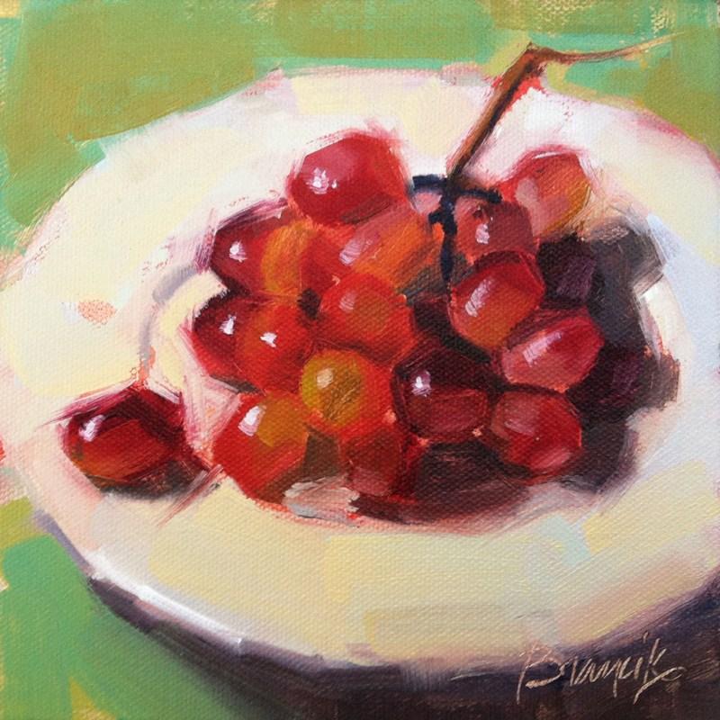 """Festive Grapes"" original fine art by Candace Brancik"