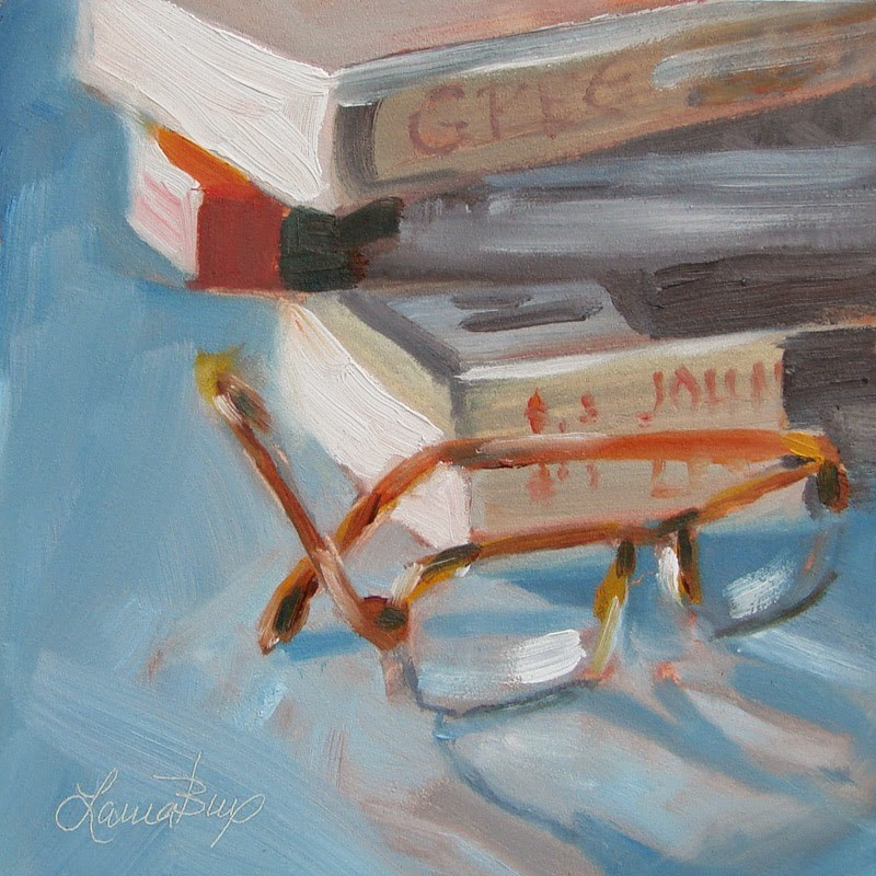 """Another Stack 281"" original fine art by Laura  Buxo"