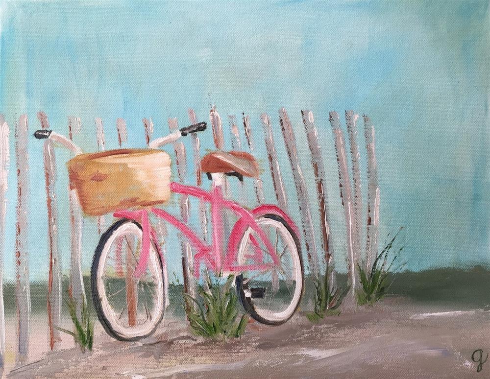 """Pink Cruiser"" original fine art by Gayle Lambeth"