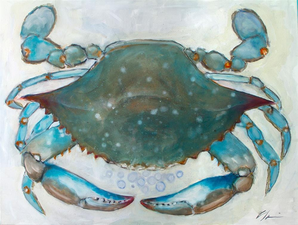 """Big Blue"" original fine art by Clair Hartmann"