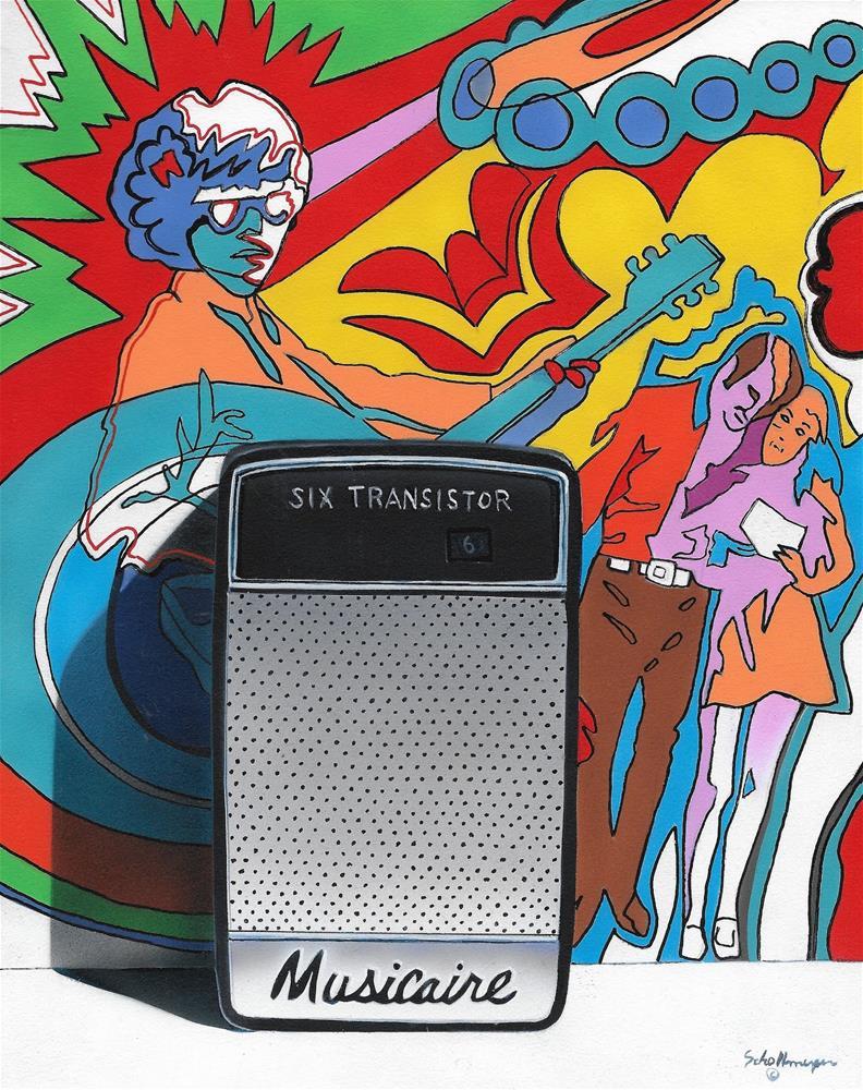 """Rock & Roll Radio"" original fine art by Fred Schollmeyer"