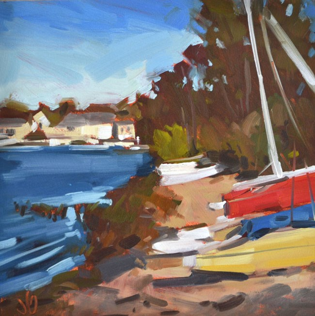 """Hobie Shore at Geist"" original fine art by Jessica Green"
