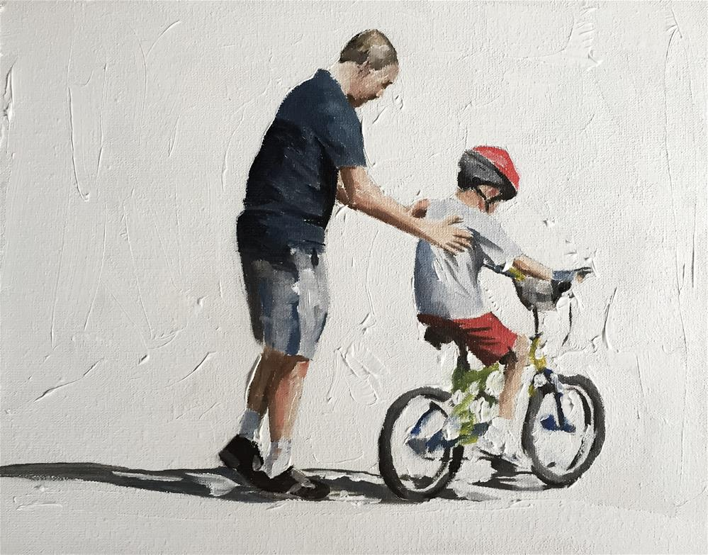 """""""Ready to Ride"""" original fine art by James Coates"""