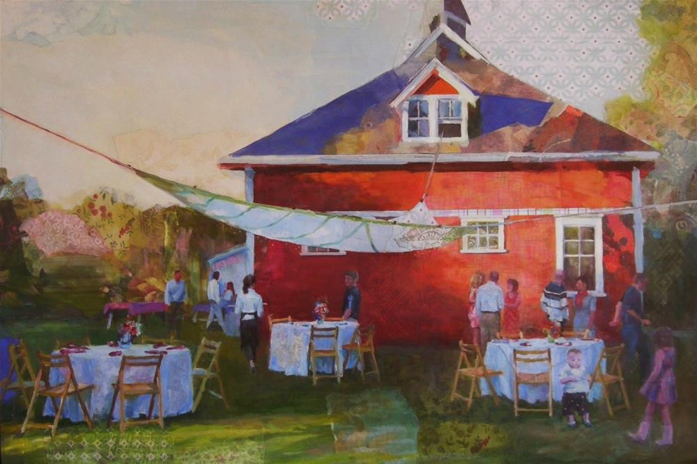 """The Party"" original fine art by Katie Wilson"