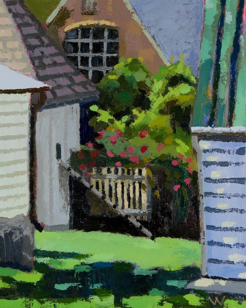 """""""Hidden Garden"""" original fine art by Joan Wiberg"""