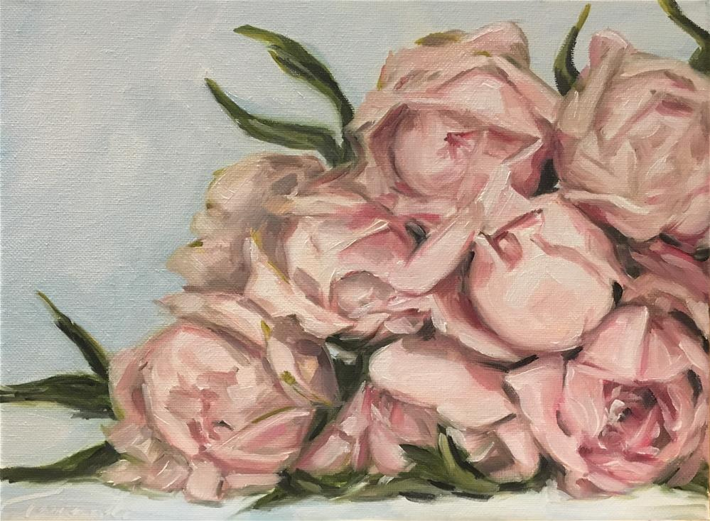 """Pale Peonies 166"" original fine art by Tamanda Elia"