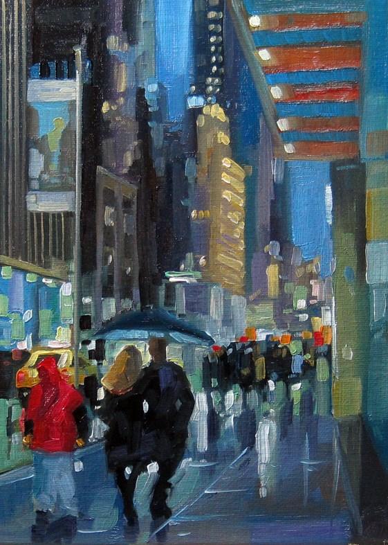 """""""No769_5thAve57Street.jpg"""" original fine art by Robin J Mitchell"""