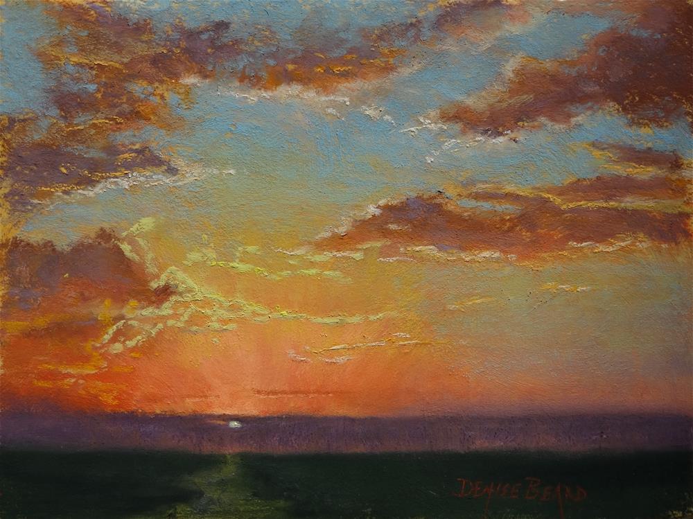 """Glowing Evening"" original fine art by Denise Beard"