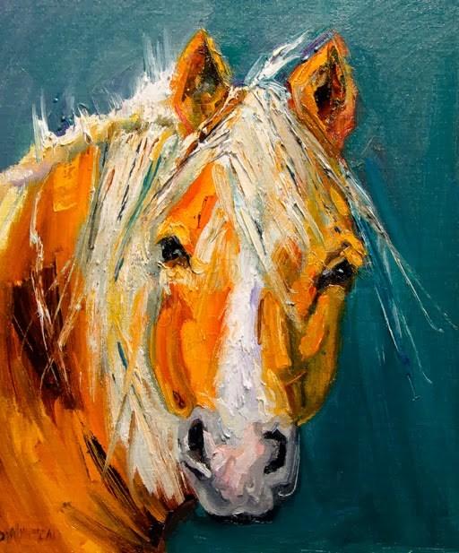 """ARTOUTWEST HORSE STUDY ANIMAL ART BY DIANE WHITEHEAD"" original fine art by Diane Whitehead"