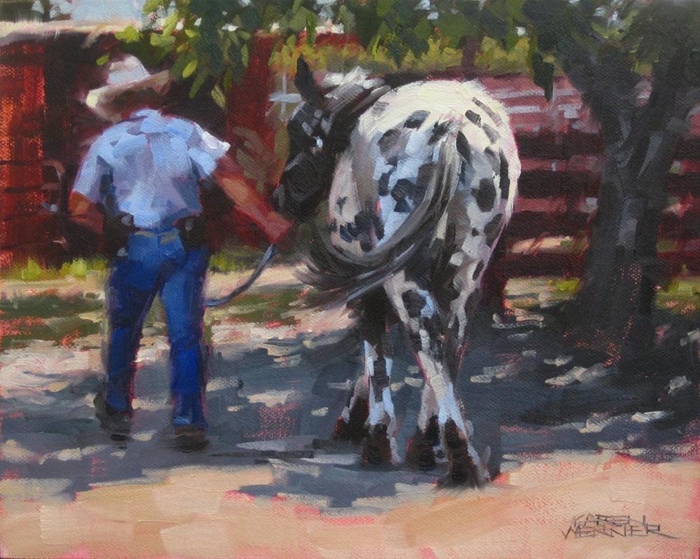 """""""Dappled"""" original fine art by Karen Werner"""