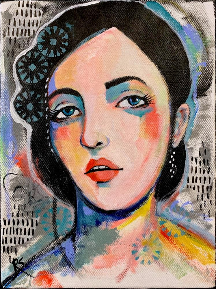 """""""Every Little Thing She Does"""" original fine art by Roberta Schmidt ArtcyLucy"""
