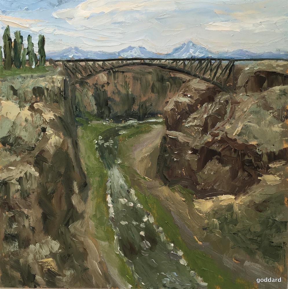 """Crooked River Gorge"" original fine art by Shari Goddard Shambaugh"
