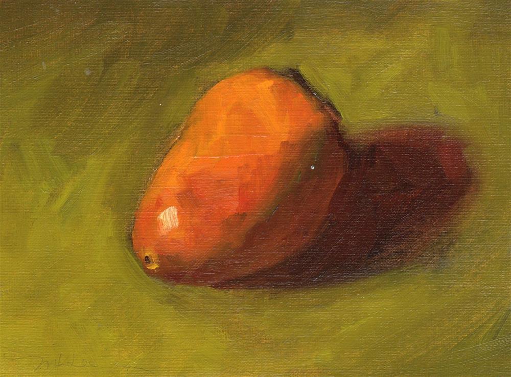 """Persimmon Study #1"" original fine art by Marlene Lee"