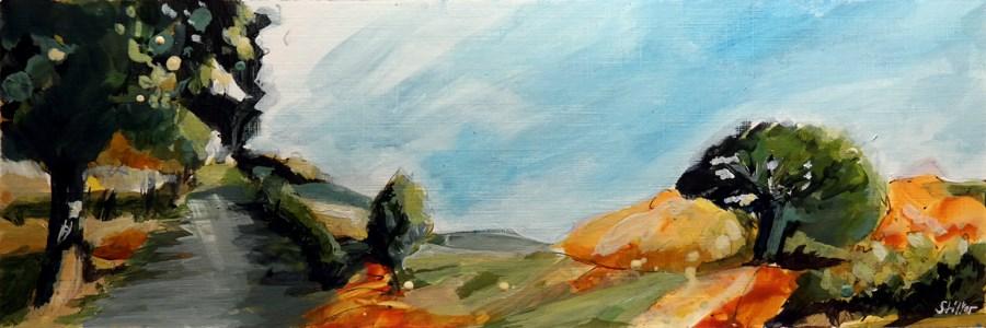 """2468 Acrylic Landscape Sketch V"" original fine art by Dietmar Stiller"