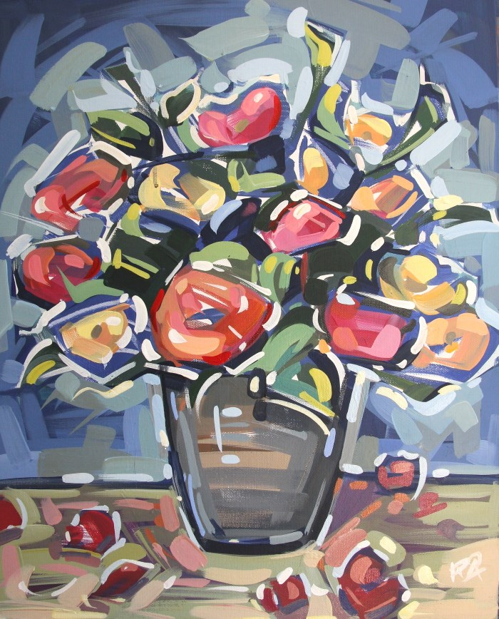 """Flower Exploration 1"" original fine art by Roger Akesson"
