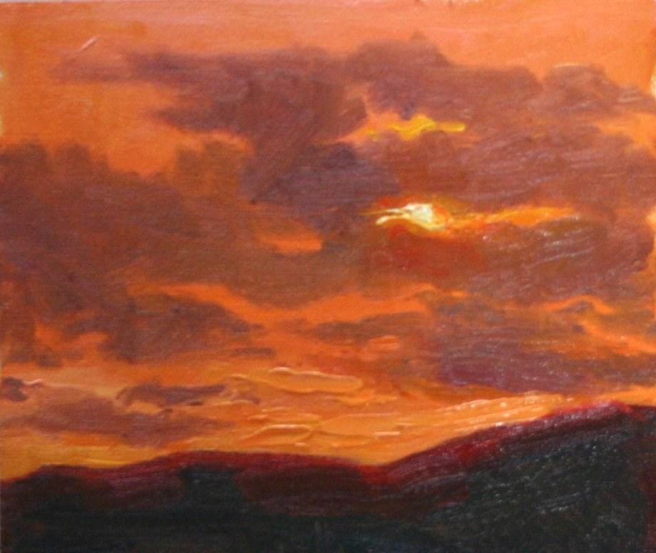 """Orange Skies"" original fine art by K.R. McCain"