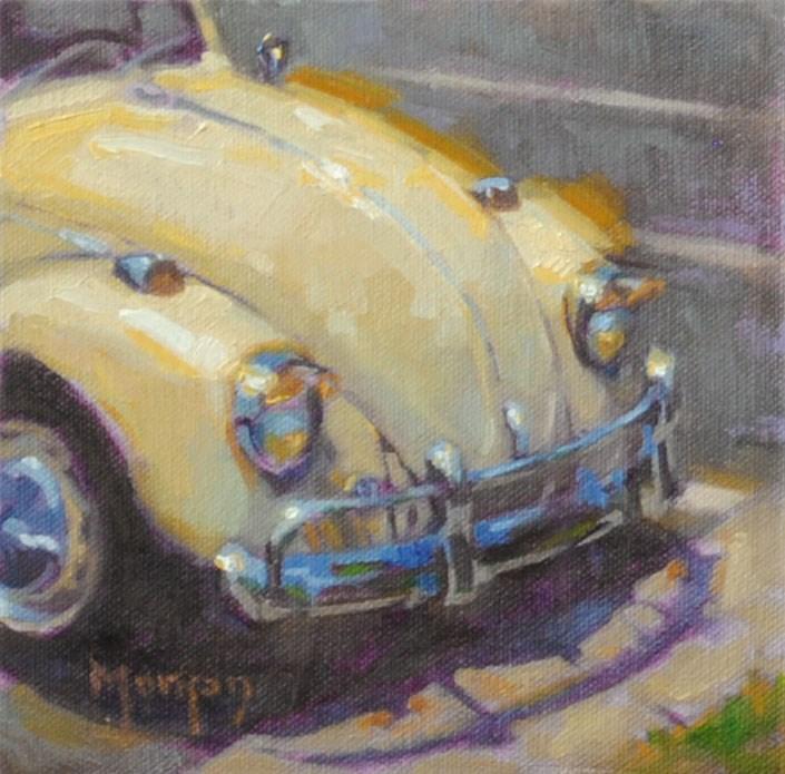 """""""Vintage Beetle"""" original fine art by Cecile W. Morgan"""