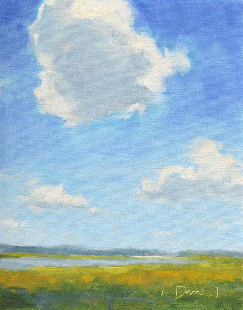 """""""Summer Cloud Drifts"""" original fine art by Laurel Daniel"""