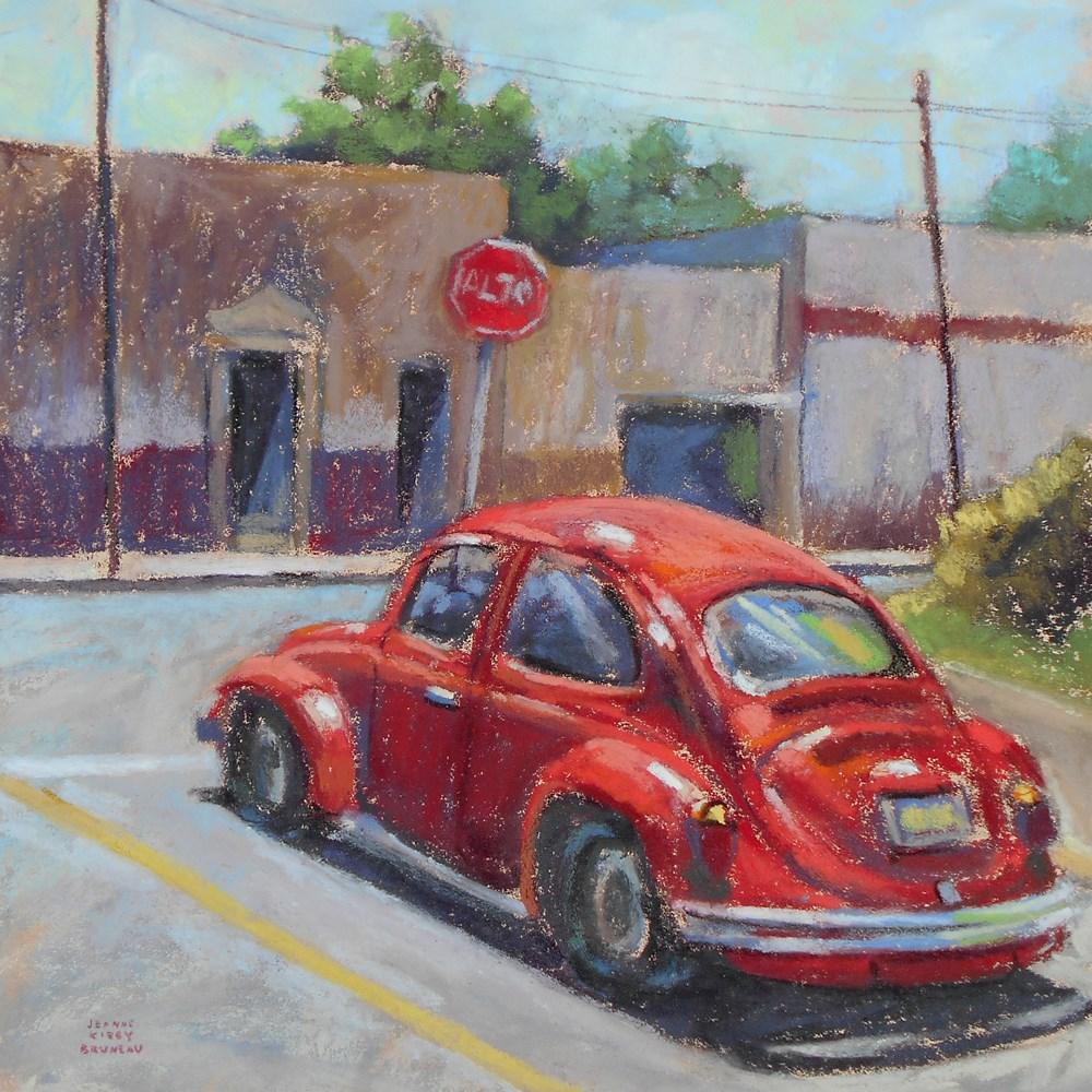 """Bug Stop"" original fine art by Jeanne Bruneau"