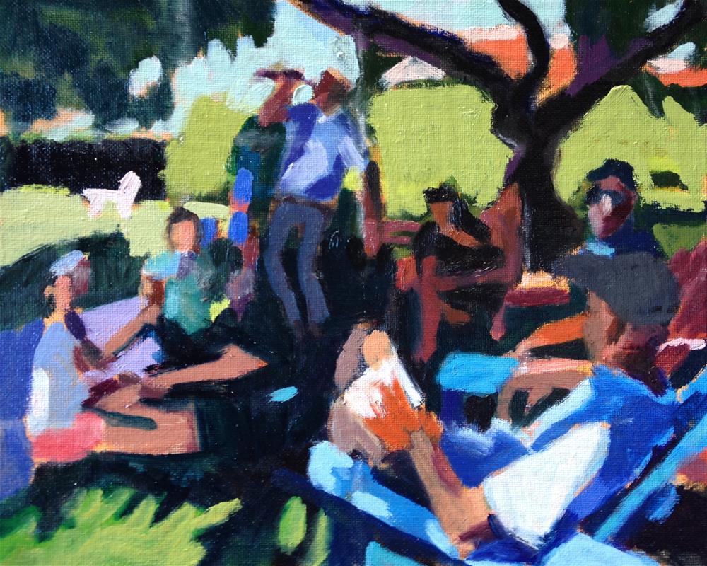 """Luncheon On The Grass"" original fine art by Pamela Hoffmeister"