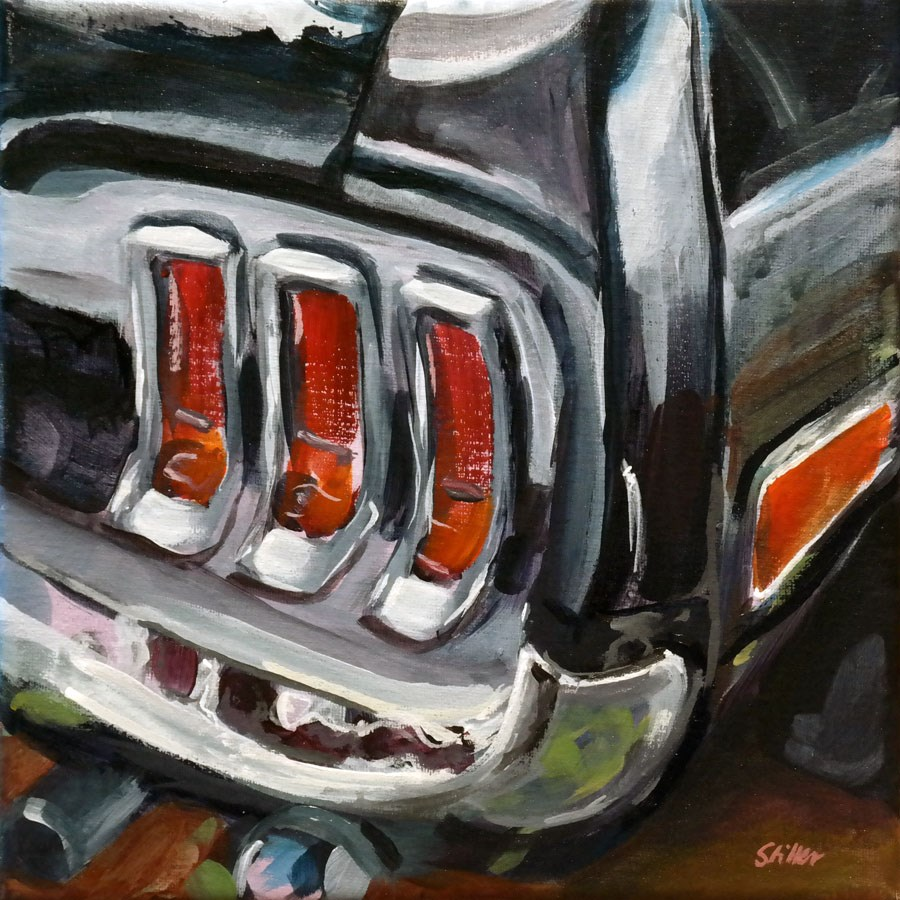 """1442 Mustang Taillights"" original fine art by Dietmar Stiller"