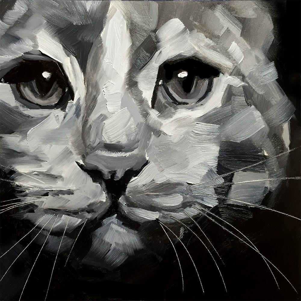"""""""Cat Study"""" original fine art by Elizabeth Dawn Johnston"""