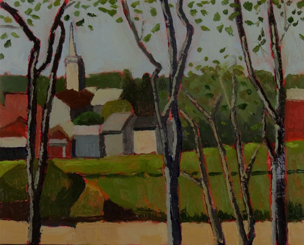 """Fredericksburg from Chatham"" original fine art by Joan Wiberg"