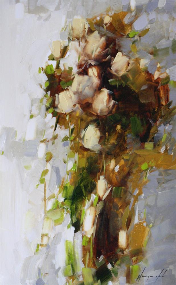 """BOUQUET OF ROSES"" original fine art by V Y"