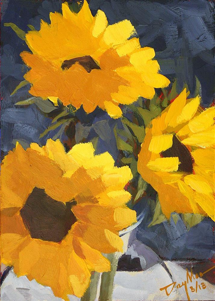 """Sunflowers"" original fine art by Mike Daymon"