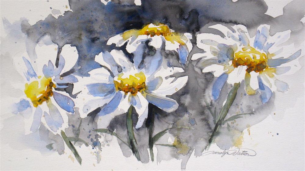 """Breezy Daisies"" original fine art by carolyn watson"