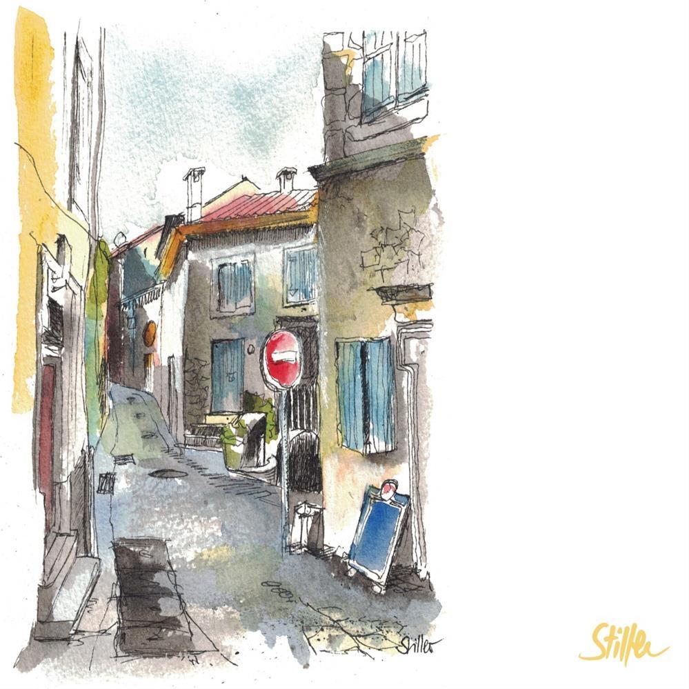"""""""3303 Street en France"""" original fine art by Dietmar Stiller"""