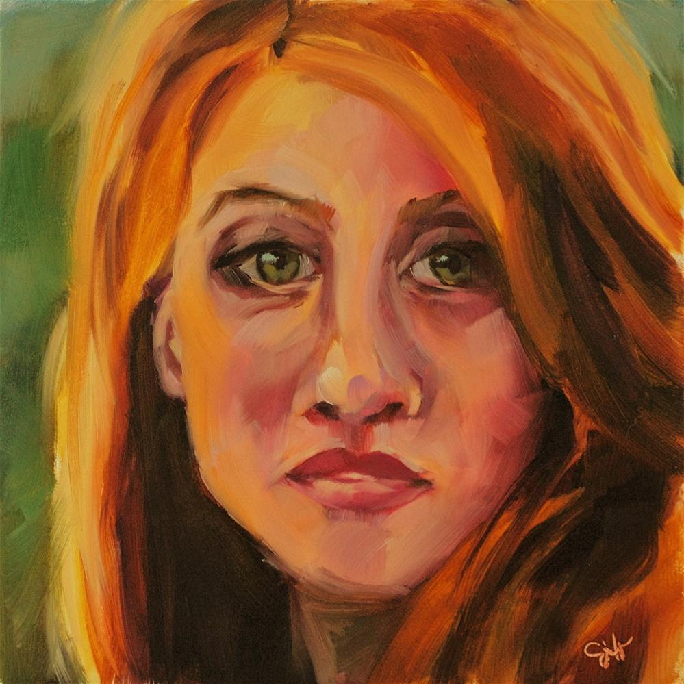 """Intrigued"" original fine art by Janette Harter"