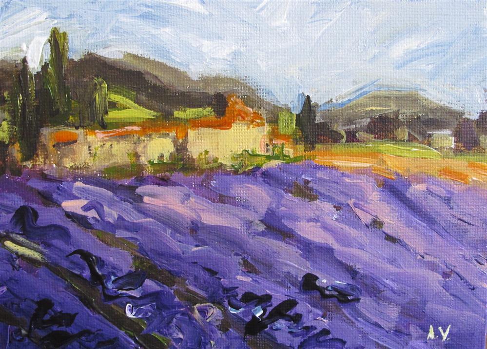 """""""Lavender Field"""" original fine art by Alina Vidulescu"""